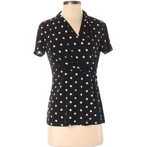 Philosophy Black and White Polka Dot Blouse NWT
